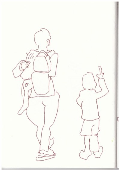 Im Schillerpark (c) Zeichnung von Susanne Haun