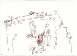 Sizilien - Cefalu - Le Rocce (c) Zeichnung von Susanne Haun