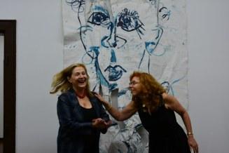 Gabriele D.R. Guenter und Susanne Haun in ihrer Ausstellung Querbrüche (c) Foto von M.Fanke (2)