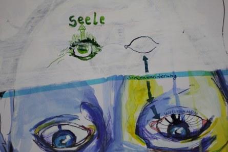 Heike Schnittker Portrait 2 - Ausschnitt (c) Übermalung von Susanne Haun