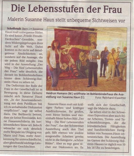 Schweriner Volkszeitung 2.5.2007