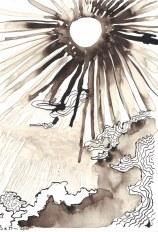Doch das Licht war eine üble Sache (c) Zeichnung von Susanne Haun