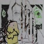 Portrait - Übermalung (c) Zeichnung von Jürgen und Heike und Susanne