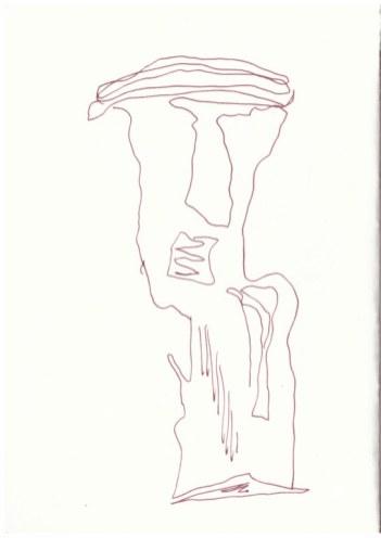 Holzstückchen als Inspirationsquelle (c) Zeichnung von Susanne Haun