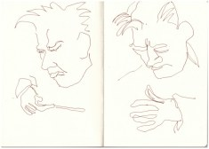 Der Dirigent (c) Zeichnung von Susanne Haun