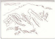 Schiefergebirge (c) Zeichnung von Susanne Haun