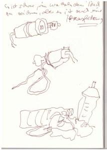 Im Bus (c) Zeichnung von Susanne Haun