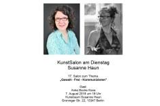 Einladung KunstSalon am Dienstag bei Susanne Haun - Gast Anke Boche-Koos