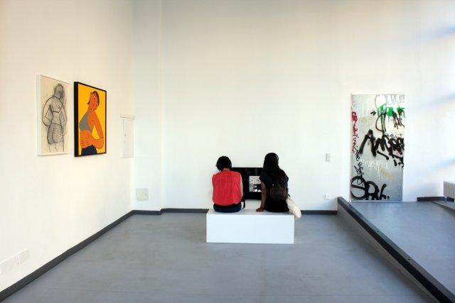 Einblick in die Ausstellung I AM LARGE in der Galerie Wedding (c) Foto von Susanne Haun