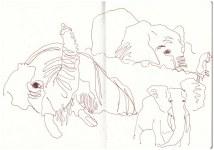 Elefanten im Chobe Nationalpark (c) Zeichnung von Susanne Haun