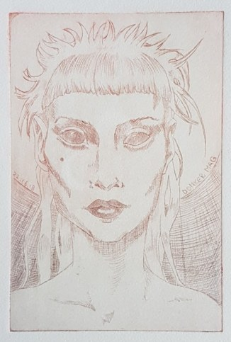 Portrait (c) Radierung von Meike Lander
