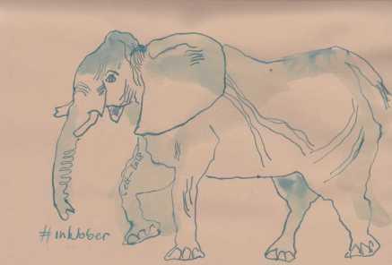 Elefant aus dem Skizzenbuch - Zeichnung von Susanne Haun (c) VG Bild-Kunst , Bonn 2018