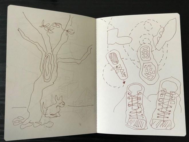 Erinnerungslandschaft vom 2.10.2018, Zeichnung (c) VG Bild Kunst, Bonn 2018