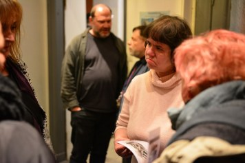 29 Café Motte, Impressionen Ausstellungseröffnung Querbrüche Obdachlos, Susanne Haun, Gabriele D.R. Guenther © Foto von M.Fanke