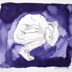Alles um ihn her war in tiefes Dunkel gehüllt - Tusche auf Aquarellkarton - 28 x 32 cm - Zeichnung von Susanne Haun (c) VG Bild Kunst, Bonn 2018 .JPG