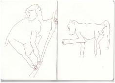 Afrika 4. Skizzenbuch Viktoriafalls, Zeichnung von Susanne Haun (c) VG Bild-Kunst, Bonn 2019