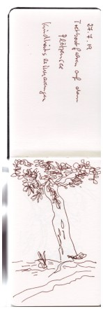 Aus dem Skizzenbuch - Freibad Plötzensee, Zeichnung von Susanne Haun (c) VG Bild-Kunst, Bonn 2019