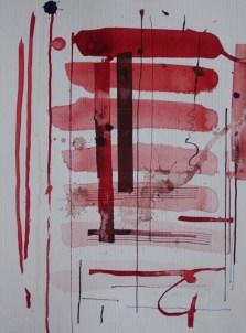 Farbkarte zum Portrait, Aquarellkarton, 32 x 24 cm, Zeichnung von Susanne Haun (c) VG Bild-Kunst, Bonn 2019