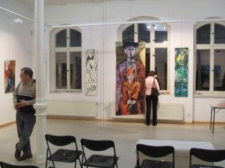 Ausstellungsansicht Galerie Süd, Magdeburg, Vater und Tochter, Gemälde von Susanne Haun (c) VG Bild-Kunst, Bonn 2020