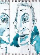 M.Fanke, Version 1, Tusche und Feder auf Zigarrenkiste, Collage von Susanne Haun (c) VG Bild-Kunst, Bonn 2020M.Fanke, Version 1, Tusche und Feder auf Zigarrenkiste, Collage von Susanne Haun (c) VG Bild-Kunst, Bonn 2020
