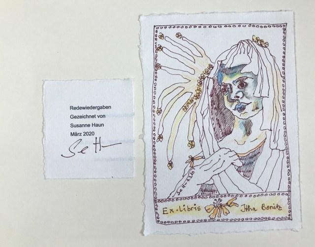 0 Deckblatt Künstlerinnen Unikatbuch für Itha Bonitz (c) Susanne Haun