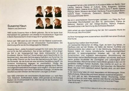 Susanne Haun, Malerei und Grafik, Broschüre (c) VG Bild-Kunst, Bonn 2020