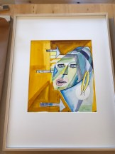 Das Mädchen mit dem Perlenohrring nach Klee, Zeichnung von Susanne Haun (c) VG Bild-Kunst, Bonn 2020