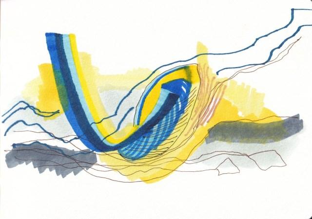Von der Blüte zum Abstrakten, Zeichnung von Susanne Haun (c) VG Bild-Kunst, Bonn 2020JPG