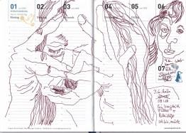 Selbstbildnisstagebuch 1.6. - 12.7.2020, Zeichnung von Susanne Haun (c) VG Bild-Kunst, Bonn 2020