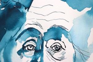 Detail - Mein Sinnbild von Ricarda Huch, Zeichnung von Susanne Haun, 32 x 24 cm, Tusche auf Aquarellkarton (c) VG Bild-Kunst, Bonn 2020