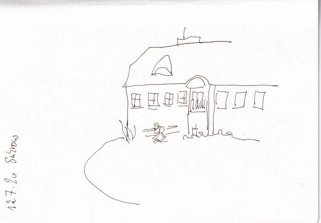 Sakrow 12.7.2020, Skizzenbuch Susanne Haun (c) VG Bild Kunst, Bonn 2020