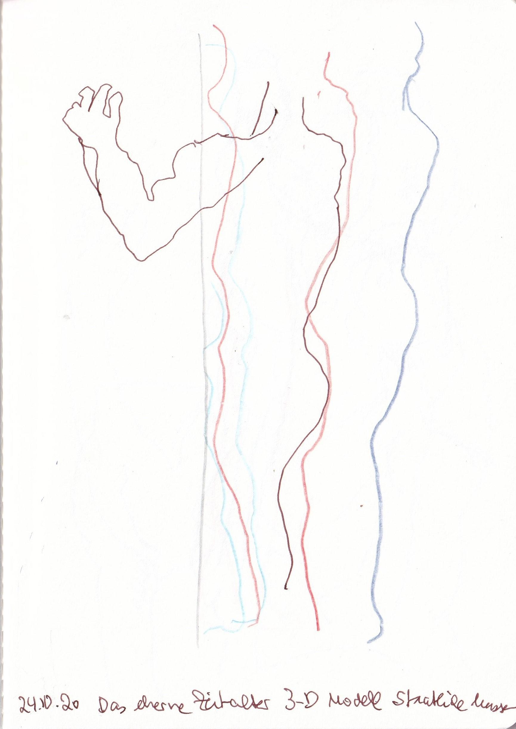 Das eherne Zeitalter, Skizzenbuch Susanne Haun (c) VG Bild-Kunst, Bonn 2020