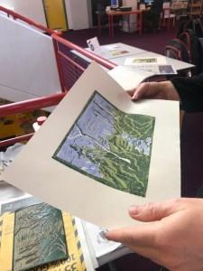Impressionen vom Linolschnitt Workshop Graphothek Berlin
