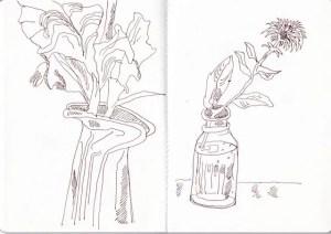 Blumen im Garten, Skizzenbuch Susanne Haun (c) VG Bild-Kunst, Bonn 2020