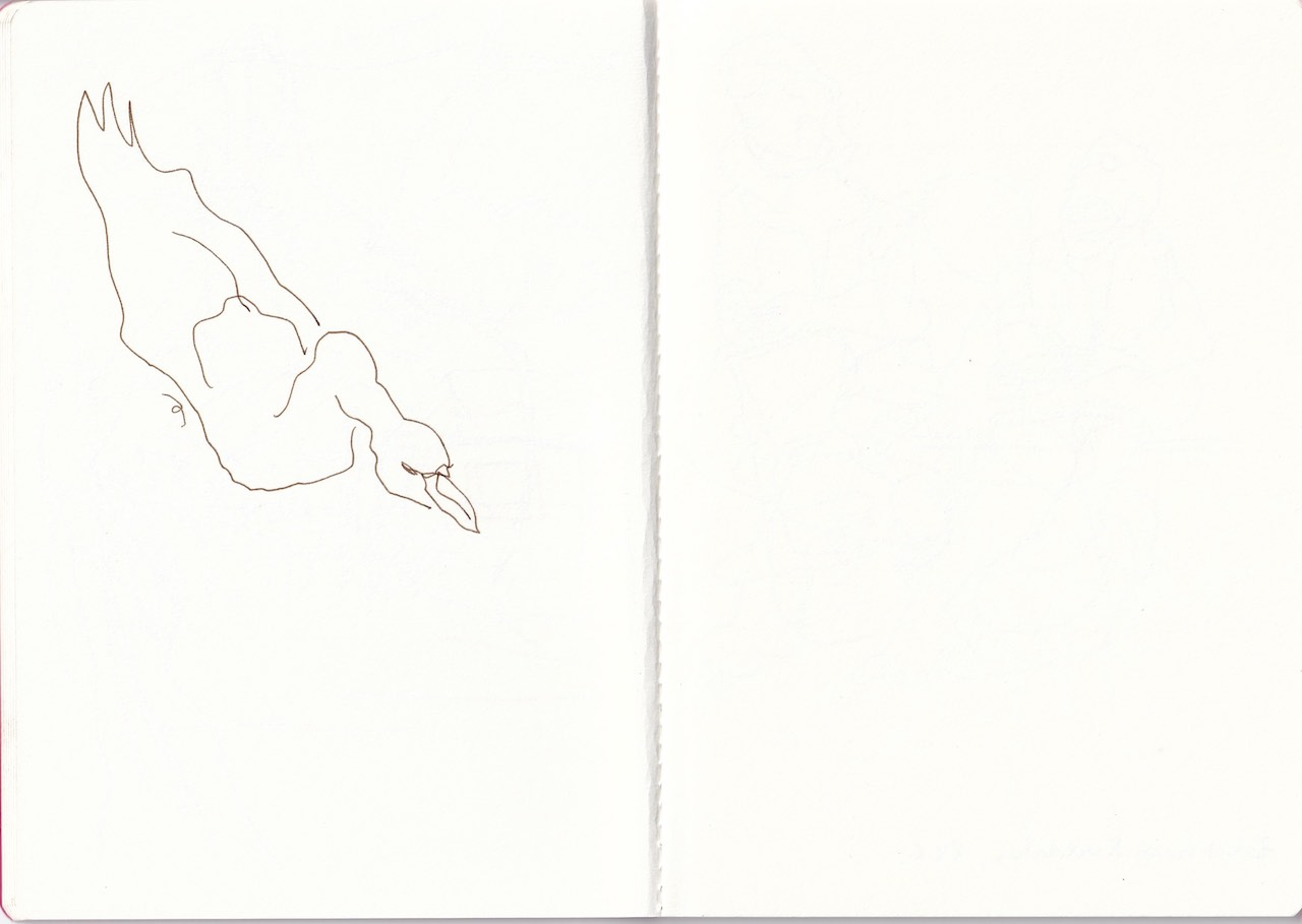 us dem Skizzenbuch von Susanne Haun (c) VG Bild-Kunst, Bonn 2020