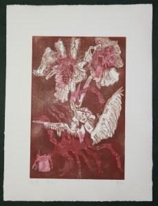 4-10, Auch Engel lassen sich gerne tragen, 29,5 x 19,5 cm, 38,5 x 26 cm, Hahnemühle 300g, weiß matt, Kuperdruckpapier, Aquatinta von Susanne Haun