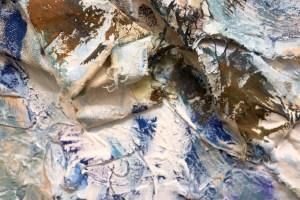 Detail - Panta rhei, Alles Fließt, Sie schaut ueber das Meer, Gemälde von Susanne Haun (c) VG Bild-Kunst, Bonn 2021