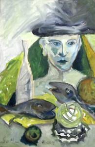 Stillleben mit Fahrradritzel - Gemälde von Susanne Haun (c) VG Bild-Kunst, Bonn 2020