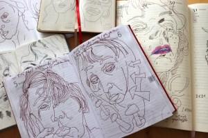 Selbstbildnis Tagebücher, Foto von Susanne Haun (C) VG Bild-Kunst, Bonn 2021