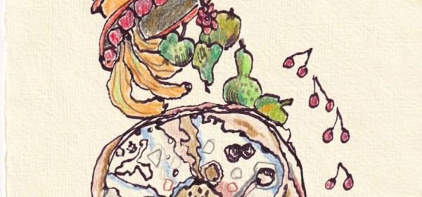 crossart for future, Rote Liste, 30 x 20 cm, Buntstift und Tinte auf Silberburg Büttenpapier, Zeichnung von Susanne Haun (c) VG Bild-Kunst, Bonn 2021