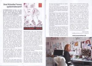 Sind Kuenstler*innen Systemrelevant (c) Susanne Haun in Magazin des Stadtteilzentrum Steglitz e.V.