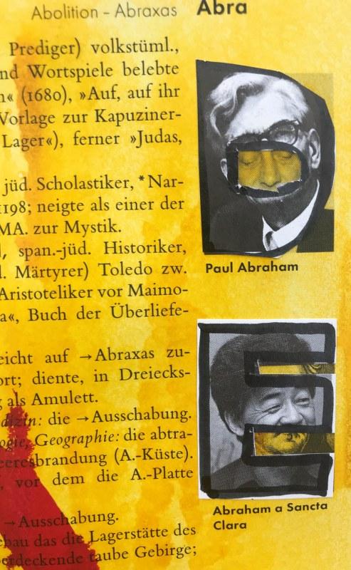 Ausschnitt - Klarer Ausdrücken, 24 x 37 cm cm, Marker auf Brockhaus, Aneignung, Zeichung von Susanne Haun (c) VG Bild-Kunst, Bonn 2021