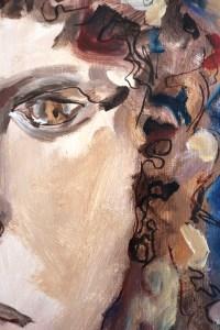 Detail Portrait eines antiken Jünglings, Gemaelde von Susanne Haun (c) VG Bild-Kunst, Bonn 2021