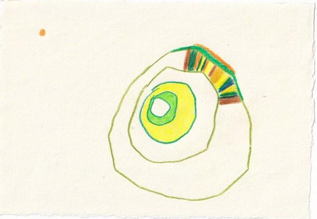 Tagebucheintrag 16.05.2021, Der Apfel fällt nicht weit vom Stamm, 20 x 15 cm, Tinte und Aquarell auf Silberburg Büttenpapier, Zeichnung von Susanne Haun (c) VG Bild-Kunst, Bonn 2021