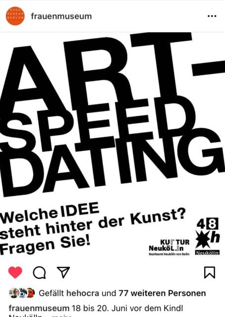 Das Frauenmuseum Berlin organisiert ART SPEED DATING