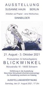 Einladungskarte Sinnbilder Ausstellung Galerie Blickwinkel, Schwerin