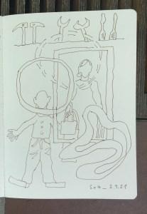 Seite aus Skizzenbuch, Belonging (c) Susanne Haun