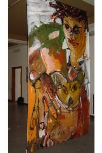2 Hommage an Basquiat, Gemaelde von Susanne Haun, Ausstellung Kunstkreuz (c) VG Bild-Kunst, Bonn 2021