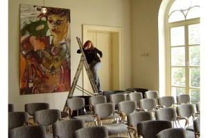 3 Hommage an Basquiat, Gemaelde von Susanne Haun, Ausstellung Schlossparktheater (c) VG Bild-Kunst, Bonn 2021
