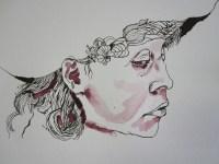 Detail Entstehung Selbstportrait mit Hut - Foto von Susanne Haun
